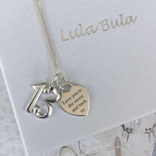 13th Birthday silver jewellery gift for a granddaughter - FREE ENGRAVING